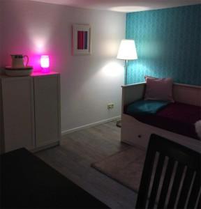 Gästezimmer im Schwedenstil vorher nachher im Keller