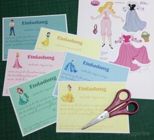 Einladung disney princess