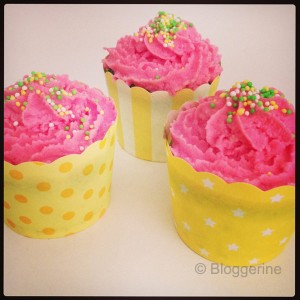 cupcake pink and yellwo party