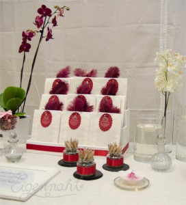 wedding decoration darkred
