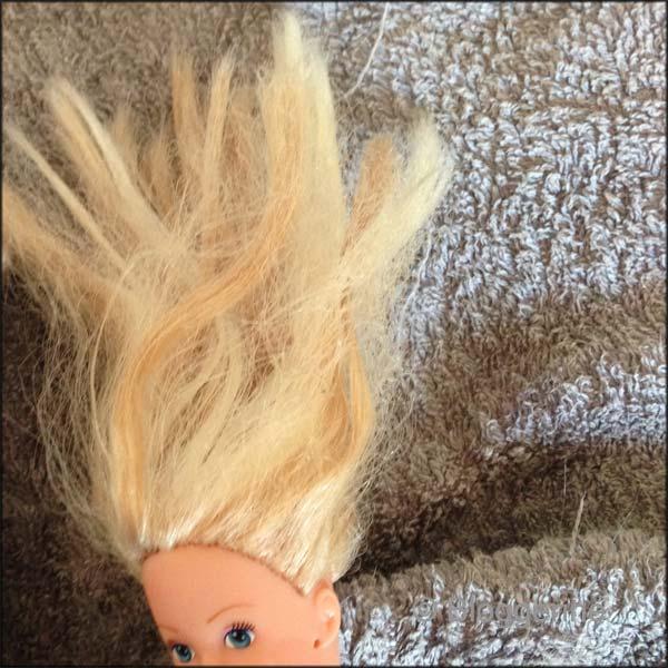 barbie haare waschen