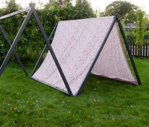 diy tutorial tent cotton