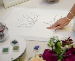 wedding tree fingerprint diy