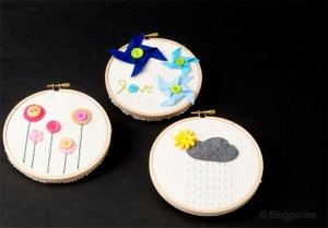 embroidery hoop art diy teaching kids to sew