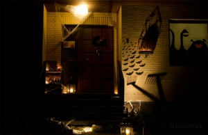 halloween diy decoration trick or treat front door