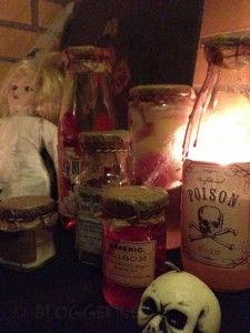 halloween diy decoration trick or treat doll label apothecary jars