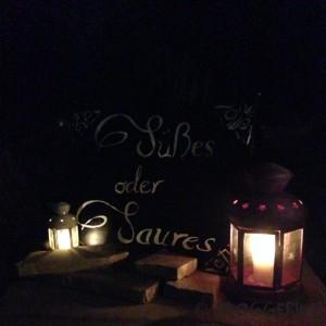 halloween diy decoration trick or treat süßes oder saures sign