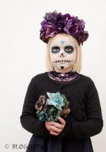 Halloween dia de los muertos sugarskull Kostüm für Mädchen