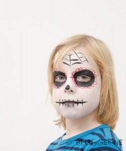 Halloween dia de los muertos sugarskull Kostüm für Jungen