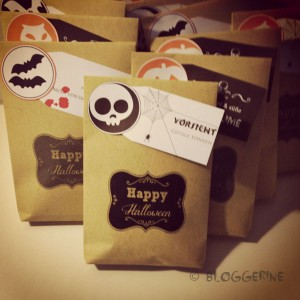 Halloween treatbags diy süßes oder saures Tütchen selber machen