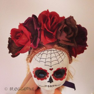 halloween diy creepy wreath dia de los muertos sugarskull day of dead black dark