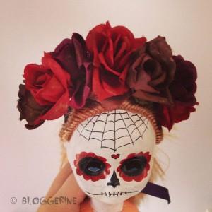 halloween diy creepy wreath dia de los muertos sugarskull day of dead black dark