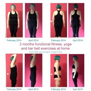 3 Monate Yoga, Functional Fitness und ein wenig Hanteltraining von zuhause aus