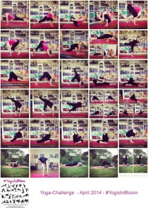 yoga challenge april yogisinbloom