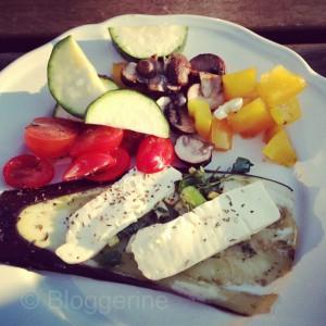 abnehmen diät gesundes Essen Salat Krabben Mittags abends gesund essen gewicht reduzieren Grillen grillrezept