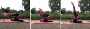 yoga  mukta hasta sarvangasana unsupported shoulderstand variations how to nicht gestützter Schulterstand wie geht das yogaübung
