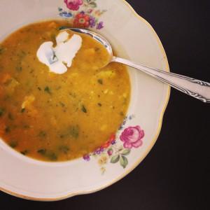 butternut kürbis suppe rezept leicht vegetarisch kochen