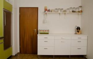 Mischung als alt und neu 70er Jahre Küche Simatic grün vor dem Umbau