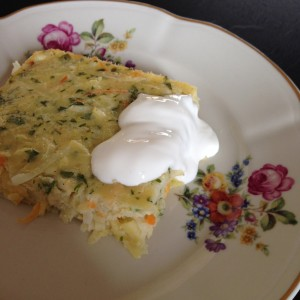 schwedischer Auflauf Pfannkuchen potatispannkaka Kartoffeln Ei