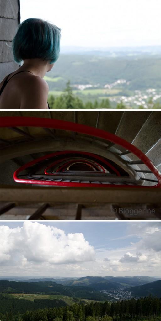 Wanderung wandern zur Hohe Bracht Aussichtsturm DJH Burg Bilstein Sauerland Urlaub mit Kindern Familienurlaub in der Jugendherberge