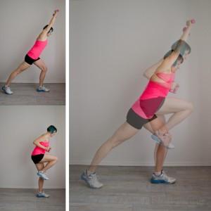 Fitness ohne Fitnesstudio Workout zuhause lunge Beine Hintern butt workout Oberschenkel Ausfallschritt