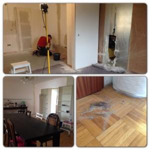 Tür verbauen Trockenbau Leitung legen verputzen Küchenumbau Küchensanierung selber machen
