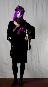 halloween kostüm für frauen gruseliges frauenkostüm sugar skull dia de los muertos schwarz