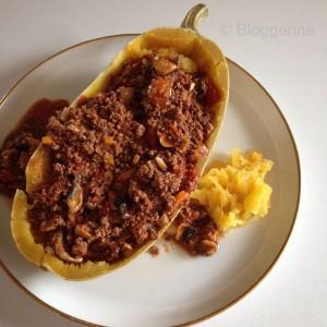 paghettikürbis Bolognese Kürbisrezepte Herbstrezepte herbstliches Gericht Rezept selber kochen