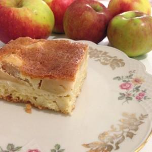 Rezept saftiger Apfelkuchen Mit mascarpone selber backen gedeckter Apfelkuchen Backrezept Herbst Herbstrezept