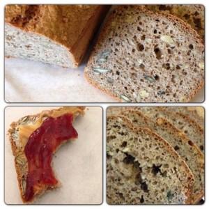 Brot selber backen Rezept Brot backen leicht schnell ohne Gehen Backrezept Vollkornbrot