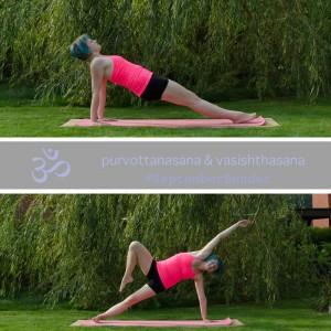 Yoga Kraft Ganzkörper Arme Balance reverse plank pose purvottasana Yogapose