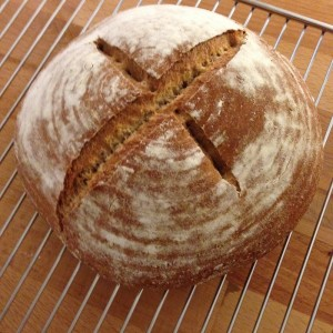 Brot selber backen, landbrot, brot backen Backrezept biobrot brotbackbuch