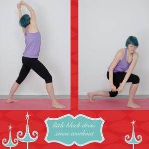 weihnachtsworkout, kampf dem Speck, weihnachtsspeck weg, functional fitness, das kleine schwarze, Ausfallschritt