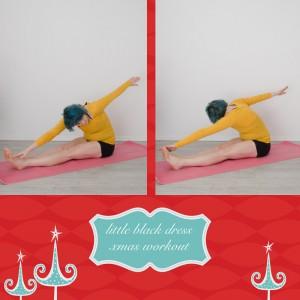 weihnachtsworkout, kampf dem Speck, weihnachtsspeck weg, functional fitness, das kleine schwarze, Arme strecken und drehen