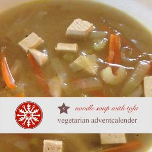 diy adventskalender vegetarisch kochen rezept  chinesische Nudelsuppe tofu
