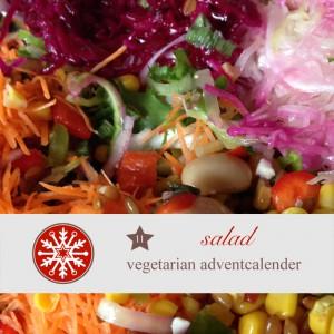 diy adventskalender vegetarisch kochen rezept  salat Rohkost vegan