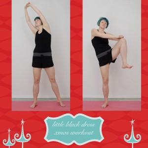 weihnachtsworkout, kampf dem Speck, weihnachtsspeck weg, functional fitness, das kleine schwarze, Bauch, Taille, Bauchtraining, stehende Übung, seitlicher Crunch