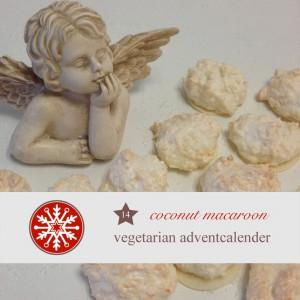 diy adventskalender vegetarisch kochen rezept Backrezepte weihnachtlich Kokosmarkonen