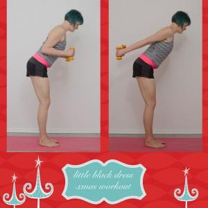 weihnachtsworkout, kampf dem Speck, weihnachtsspeck weg, functional fitness, das kleine schwarze, Arme, Oberarme, Triceps, Diceps