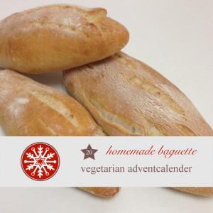 diy adventskalender vegetarisch kochen rezept,backen, baguette, backrezepte