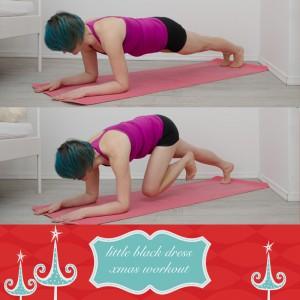 weihnachtsworkout, kampf dem Speck, weihnachtsspeck weg, functional fitness, das kleine schwarze, Arme, Oberarme, Triceps, Diceps, Ganzkörper, Planke, Unterarmstütz