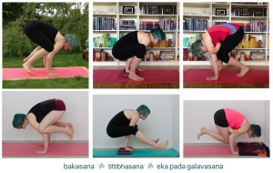 Yoga progress Armbalance Krähe fliegende Krähe Firefly crow flying crow