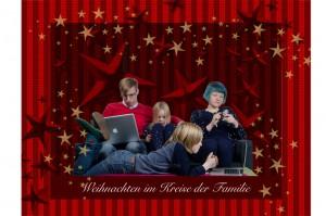 Weihnachtskarte Familie Idee für Weihnachtsgruß