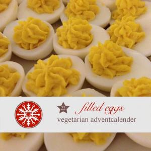 diy, adventskalender, rezept, Party, Fingerfood, Eier, gefüllte Eier, vegetarisch, vegetarsicher Adventskalender