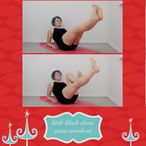 weihnachtsworkout, kampf dem Speck, weihnachtsspeck weg, functional fitness, das kleine schwarze, Taille, side leg lift, Bein heben, Bauchmuskeln