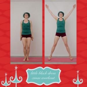 weihnachtsworkout, kampf dem Speck, weihnachtsspeck weg, functional fitness, das kleine schwarze, Hampelmann, jumping jack, jumping star, Ganzkörperübung, aufwärmen, warm up, Cardio