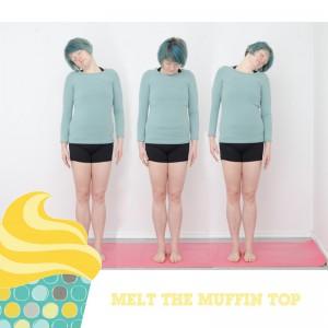 Melt the muffin top, Kampf dem Bauchspeck, Aufwärmen, warm up, Fitness, functinal fitness, Bauch Beine Po, BBP, Fitness zuhaus, workout, Neckroll