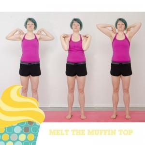 Melt the muffin top, Kampf dem Bauchspeck, Aufwärmen, warm up, Fitness, functinal fitness, Bauch Beine Po, BBP, Fitness zuhaus, workout, Schulterkreisen