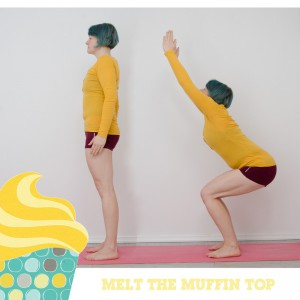Melt the muffin top, Kampf dem Speck, BBP, Fitness, fit sein, functional fitness, zuhause, workout, Übungen im Stehen, Po, Beine