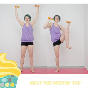 Melt the muffin top, Kampf dem Speck, BBP, Fitness, fit sein, functional fitness, zuhause, workout, Übungen im Stehen, Bauch